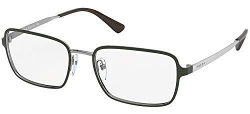 Gafas graduadas Prada PR 57 XV 5591O1 Top Verde/Gunmetal
