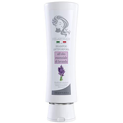 HILARYHAIR | Shampoo Naturale Bio Antiforfora | Con Ingredienti 100% Naturali e Olio di Lavanda della Liguria | Made In Italy | 250 ml