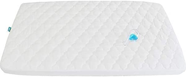 Waterproof Crib Mattress Pad Cover For Pack N Play 39 X 27 Fitted Pad For Graco Playard Mattress Mini Portable Playard Mattresses Washable Ultra Soft Padding White