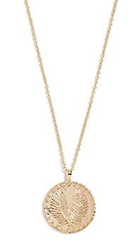 gorjana Women s Palm Coin Pendant Adjustable Necklace 18K Gold Plated Medallion 19 inch Chain