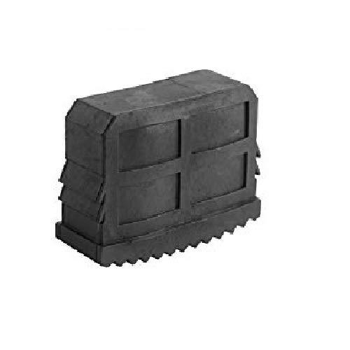 Leiterfüße, Gummi, rutschfest, Ersatzteil für Ausfahrleitern, Schwarz, 4 Stück
