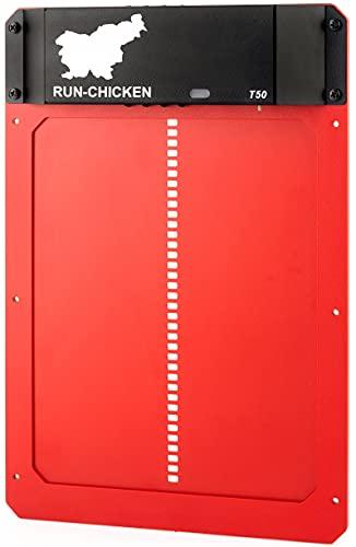 RUN-CHICKEN Model T50, RED Automatic Chicken Coop...