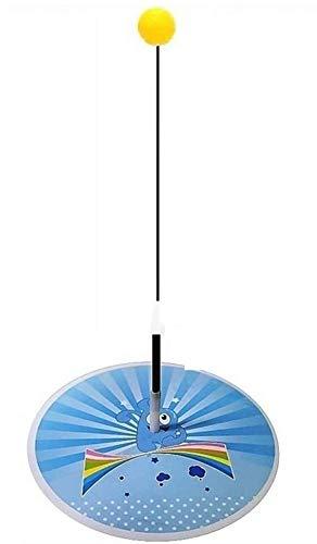 Rebote Trainer Mesa de ping pong, ping-pong Pista de Paddle Conjunto de Entrenamiento de altura ajustable con el dispositivo flexible rápida de rebote for personal / Doble Ejercicio ( Color : Blue )