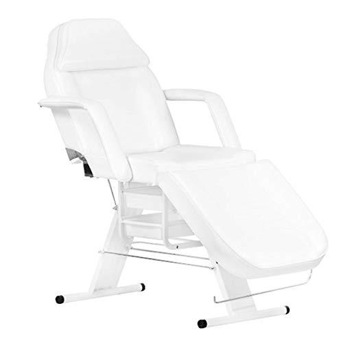 Activeshop Kosmetikliege Massageliege Massagetisch Massagestuhl 202 Weiss bis 180 kg belastbar Premium-PU-Leder mit Aufbewahrungsladen 180 x 63 x 74 cm (L x W x H)
