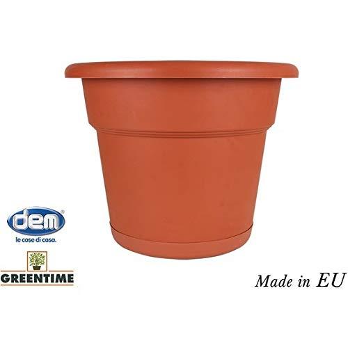 Greentime 52119 bloempot Eco 25 cm met onderzetter