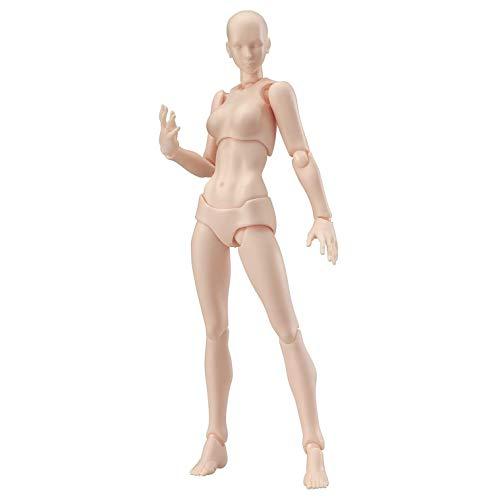 Modelo de figura de acción, maniquí humano móvil con kit de accesorios, para SHF modelado artístico dibujo dibujo hombre mujer conjunto (Color de piel-Hembra)