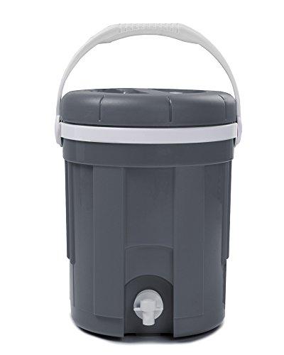 Ondis24 Thermobehälter für Kaltgetränke Transport- oder Tischbehälter mit Auslaufhahn isoliert Thermobox (4 Liter, Grau)