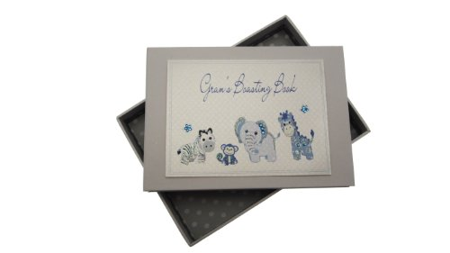 White Cotton Cards Gran's Boasting Book Tiny Photo Album Toys Range (Blue)