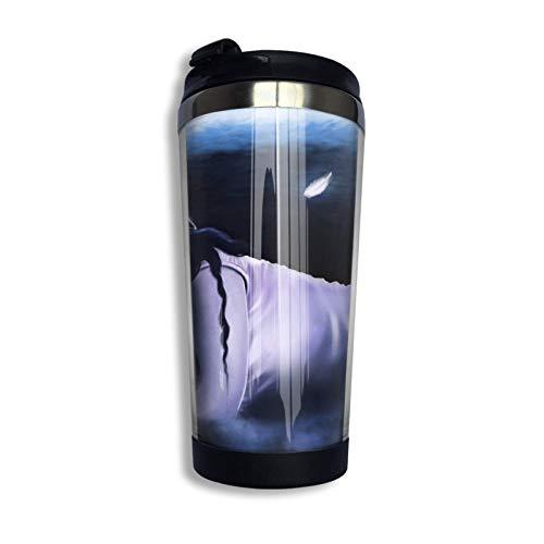 Taza con tapa abatible Flor Vaso de acero inoxidable Taza Botella de agua Día de la madre Taza de cumpleaños Sueño Fantasía Mujer joven Ángeles