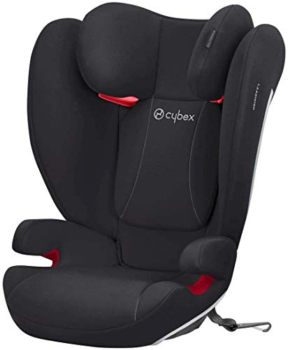 Cybex Silver Seggiolino auto per bambini Solution B-Fix, Per auto con e senza ISOFIX, Gruppo 2/3 (15-36 kg), Da circa 3 fino a 12 anni, Nero(Volcano Black)