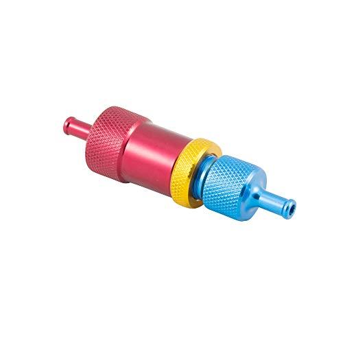 Manueller Boost Controller Inline Dampfrad Turbo Wastegate Kugel Feder Rot/Blau