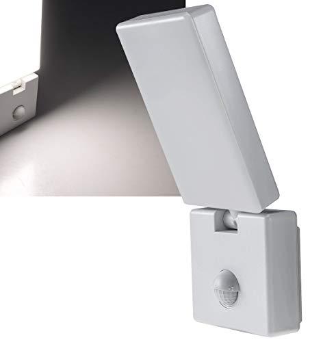 LED Aussen Wandleuchte mit Bewegungsmelder 15W 1100lm Sensor 140° Erfassung IP44 für Innen- & Aussenbereich I 4000k / Neutralweiß I Weiß