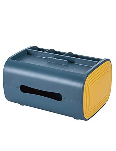 THHN Cubierta de pañuelos de plástico, Titular de la Caja de Tejidos con Multifuncional, Organiza el Escritorio, Utilizado para el Dormitorio de la Sala de Estar de la Oficina (Color : Blue)