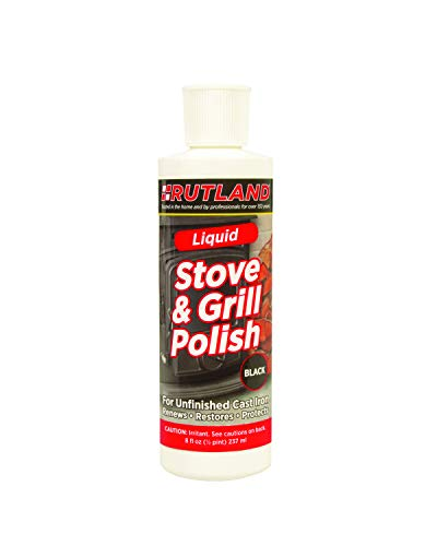 Rutland Products Stove & Grill Liquid Stove Polish, 8 fl oz, Black