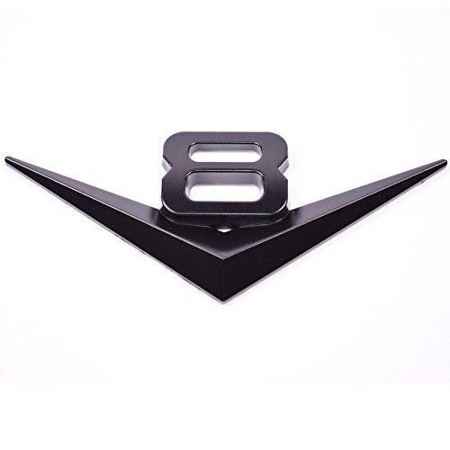 Garage-SixtySix Metall Emblem Aufkleber V8 Schwarz