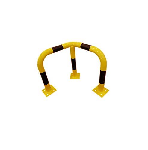 1A-Safety Rammschutzbügel-Ecke RSE-2-OUT, gleichmäßig gebogener Gütestahl, LxBxH: 60 x 60 x 60 cm, Gelb/Schwarz, Rammschutz, Unfallschutz, Sicherheitsbügel, Absperrung, Ecke