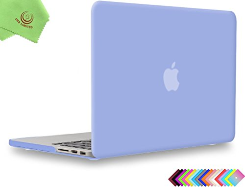 UESWILL Smooth Matte Hard Case for MacBook Pro (Retina, 15 inch, Mid 2012/2013/2014/Mid 2015), Model A1398, No CD-ROM, No Touch Bar, Serenity Blue