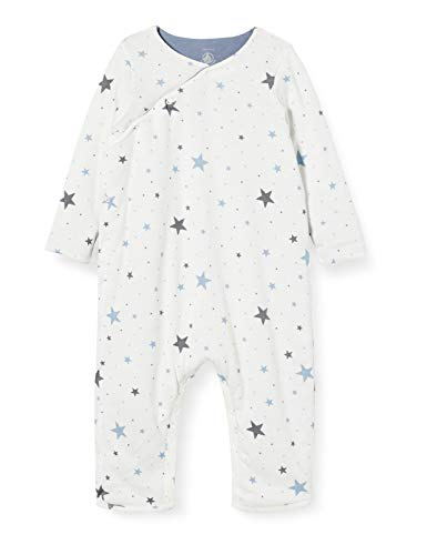 Petit Bateau Baby-Overall lang Gr. 68, Marshmallow/Tempete
