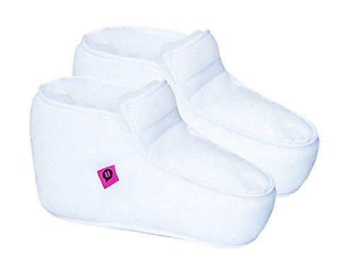 Par de botas/patucos antiescaras tipo Kiowa, Botín para la prevención de escaras, talón y alrededores, Talla M 40-43, Reducción de la presión y alivio del dolor, confort y comodidad, blanco, 1 par