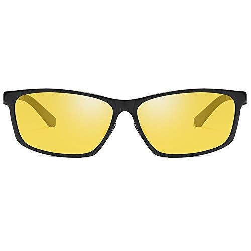 ZHHk Ciclismo Deportivo Aluminio, Magnesio Y Metal, Material Nuevo, Gafas De Visión Nocturna, Gafas De Sol, Lentes De Color Negro/Rojo/Amarillo, Gafas De Sol De Conducción for Hombres Gafas de Sol