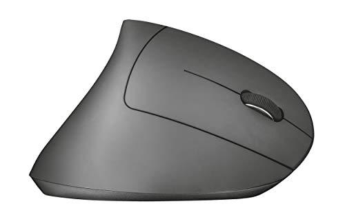 Trust Verto Mouse Verticale Ergonomico Wireless 800/1200/1600 DPI, Nero