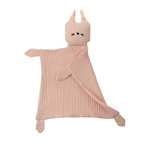 MIK Baby-Handtuch, beruhigend, weich, beruhigend, Handtuch, niedlich, Katze, beruhigt Baby, Schlafspielzeug