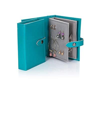 Little Little Book of Earrings - Small Size - Teal Blue