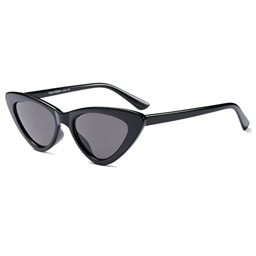 Inlefen Gafas de sol de ojo de gato Gafas de estilo de Mod Vintage Diseño de marco de triángulo Gafas UV400
