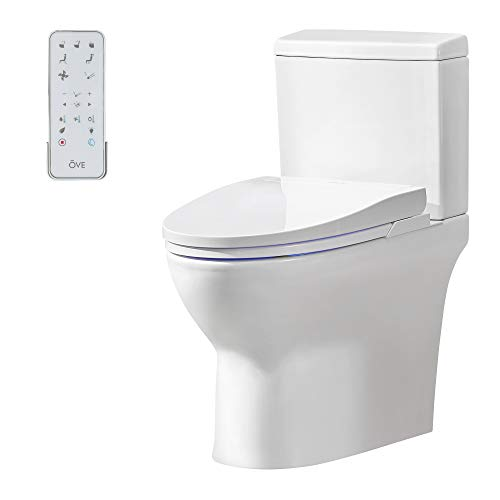 Ove Decors Wilma Smart Bidet Toilet Built-in Tankless Elongated, Automatic Flushing, Heated Seat, Soft Close, ECO Mode with Remote Control