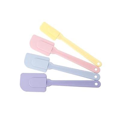 MIU France Set of 4 Silicone Spatulas, Pastel Colors (90043)