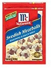 McCormick Seasoning & Sauce Mixes Swedish Meatballs 2.11OZ (Pack of 12) by McCormick