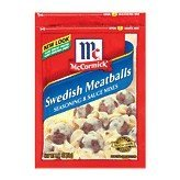 McCormick Seasoning & Sauce Mixes Swedish Meatballs 2.11OZ (Pack of 12) by McCormick