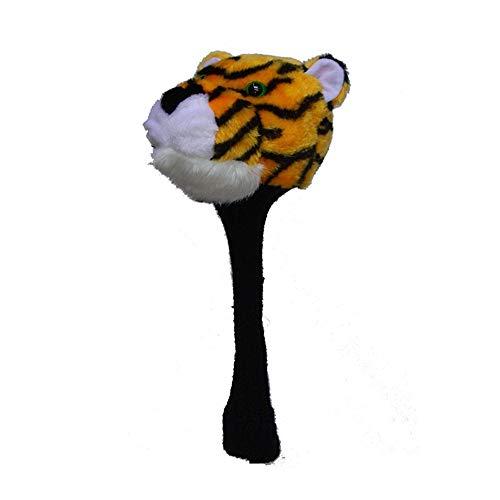 Cubiertas de Cabeza de Palos de Golf Putter Headcover Animales Tamaño estándar Cartoon Tiger Styling Golf Decoración Cubierta Golf Club Cap for No.1 Madera de calle ( Color : As shown , Size : Free )