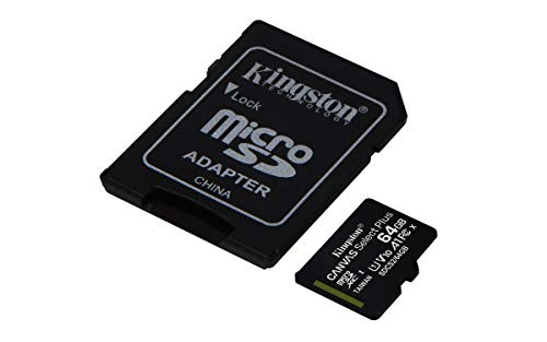 Kingston Canvas Select Plus microSD Speicherkarte, SDCS2/64GB Class 10 (inkl. SD Adapter)