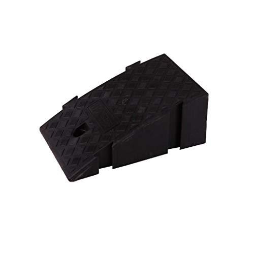 Plástico Vertical, rampas Antideslizantes for sillas de Ruedas, rampas de Servicio Tienda de conveniencia Servicio de Entrada Rampas Altura: 16 cm / 19 cm (Color : Black, Size : 40 * 25 * 19CM