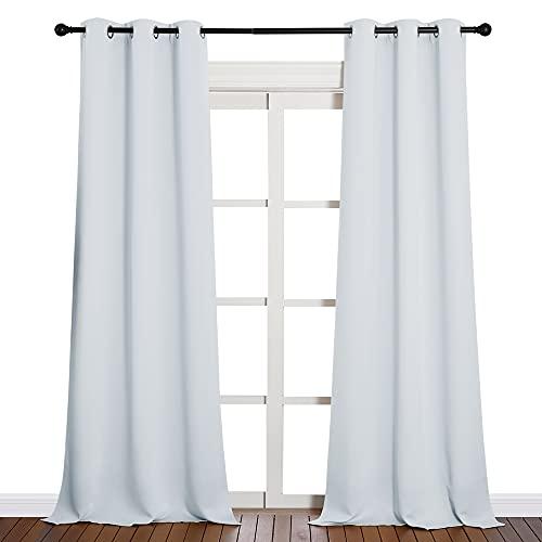 客厅用长窗帘(2块面板,42乘90,灰白色)