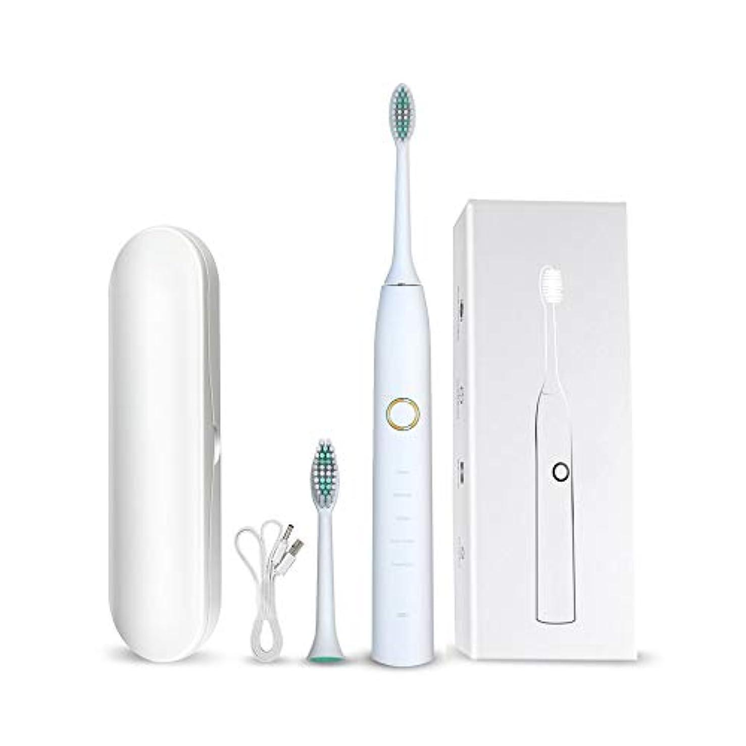 セラフ共感する修復いっぱい 体 防水 自動 ホワイトニング 電気の 歯ブラシ オーラル クリーニング 歯ブラシ 5 種類 の ケア モード 2 議事録 タイミング、 30 秒 エリア 催促状 関数,White