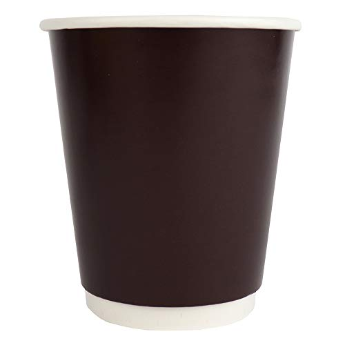 10 oz Disposable Paper Coffee Cups - Double Wall Brown Hot Paper Cups - Extremely - Hot Cup Factory - 500 Count
