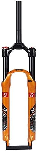 WYJW Horquilla Delantera de Bicicleta 26'27,5 29 Pulgadas Horquilla de suspensión MTB, Sistema de Aire Recorrido de Choque Efectivo: 120 mm