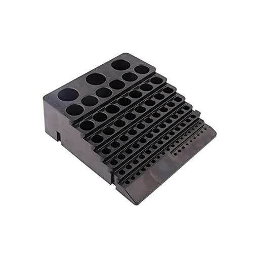 Liubiaonet Boîte de rangement de foret Black Foret Bust-Cutter Foret Titulaire de finition Organisateur Case 449C