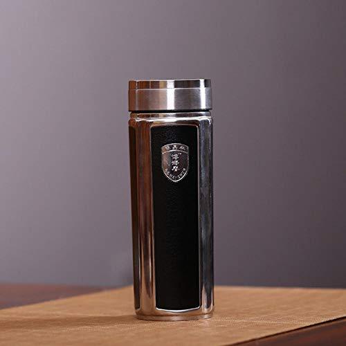 Hjjkyy Hk Echte Paarse Klei geïsoleerde Thermos Fles Thermo beker met RVS Koffie Mokken waterfles 360ml Thermische bekers Gifts@360ml_B