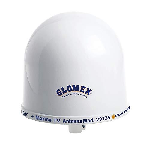 "Glomex Talitha V9125AGCU Omnidirectional 10"" TV Marine Antenna with Auto Gain Control"