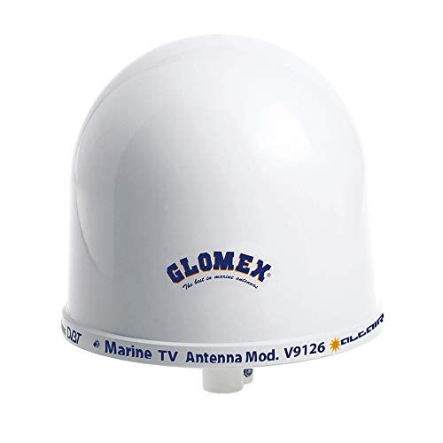 "Glomex Talitha V9125AGCU Omnidirectional 10"" TV Marine Antenna with Auto Gain Control"