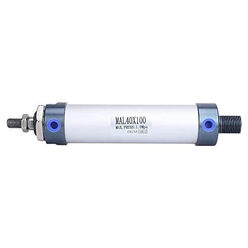40 mm Diámetro 25/50/75/100 mm Mini Cilindro de Aire Aleación de Aluminio Varilla Simple Cilindro de Aire Neumático de Doble Efecto(100mm)