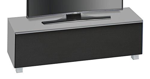 MAJA Möbel SOUNDCONCEPT Glass 7736 Soundboard, Abmessungen (BxHxT):140,20 x 43,30 x 42 cm, Glas marmorgrau matt-akustikstoff schwarz, 20 x 42 x 43,30 cm