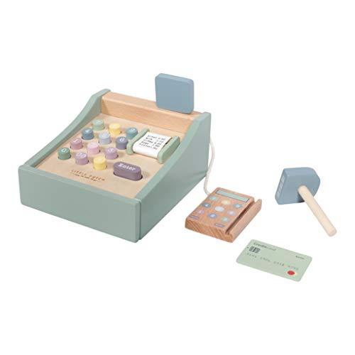 Tiamo Little Dutch 4469 Holz Spielkasse mit Scanner und Zubehör Mint 16x13x10 cm