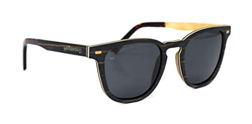 Óculos de Sol de Madeira Louis Black