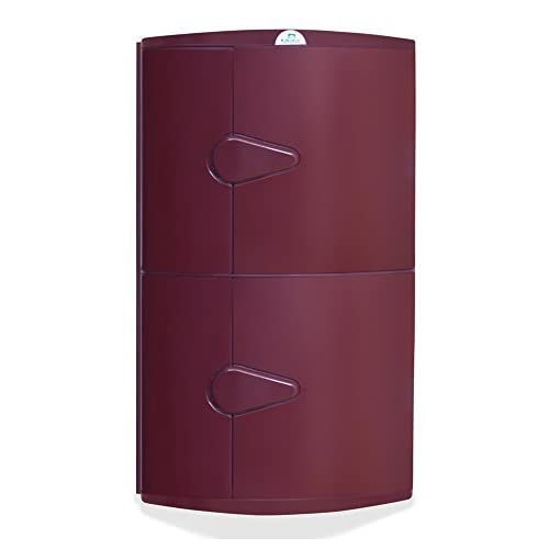 Nilkamal 2 Door Plastic Storage Corner Cabinet Maroon Amazon In