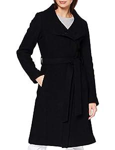 Bugatti Damen 661500-64088-290 Wollmischungs-Mantel, schwarz, 42