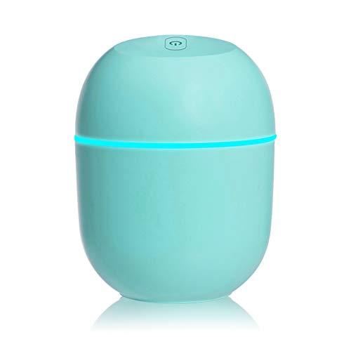 MHwan humidificador de Niebla fría, humidificador, Humidificador de Aire portátil Mini USB Humidificador Ultra silencioso con luz Nocturna para automóvil, hogar, Oficina, Dormitorio, 8x8x10.3cm